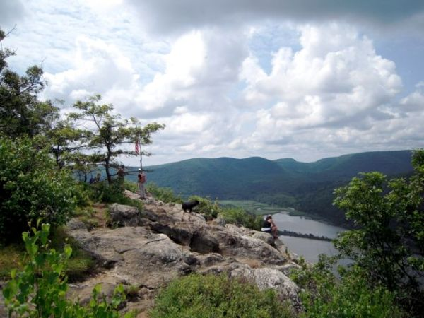 View of Hudson River from Anthony's Nose near Peekskill, N.Y.